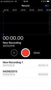 Voice Memo Record Function