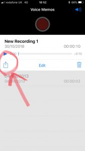 Button for Emailing Recording
